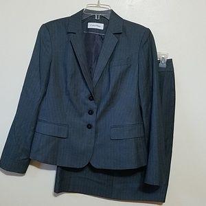 G. CALVIN KLEIN Pinstripe Suit